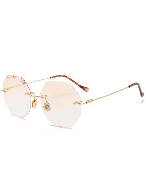 shop Ombre Geometric Rimless Sunglasses - CHAMPAGNE