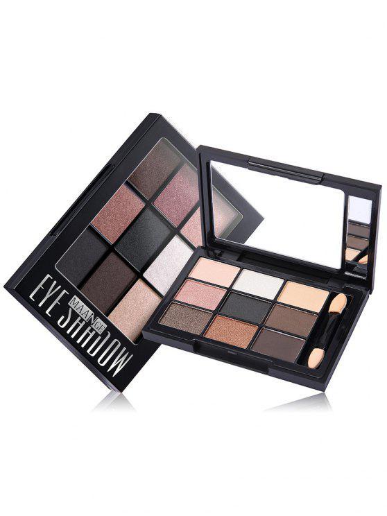 9 colores paleta de sombra de ojos con cepillo - 04 #