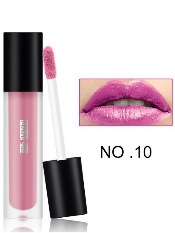 Long Eye Wear Hidratante Lip Glaze - Marrom 10#