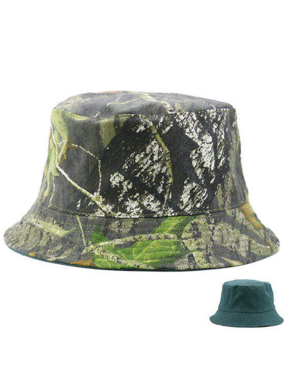 التمويه و نقية اللون عكسها دلو قبعة - مسود الخضراء
