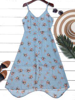Vestido Floral De Tirante Fino Con Botones De Gasa - Floral L