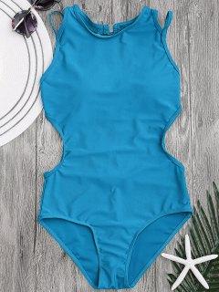 Padded Back Strappy Swimwear - Lake Blue L