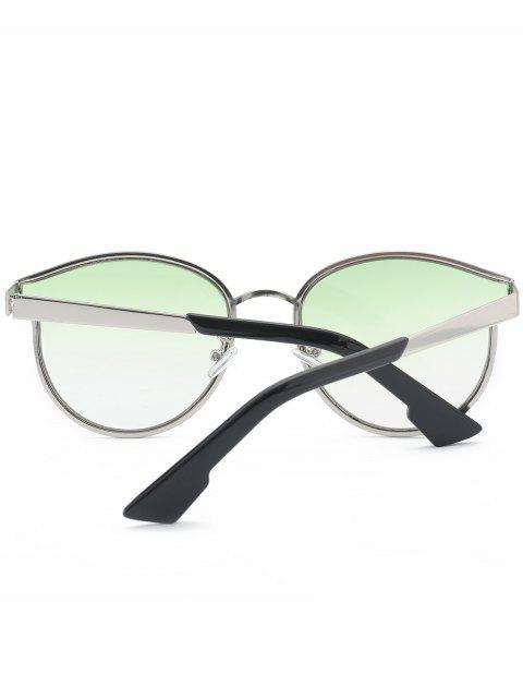 women Butterfly Piebald Frame Spliced Sunglasses - GREEN  Mobile