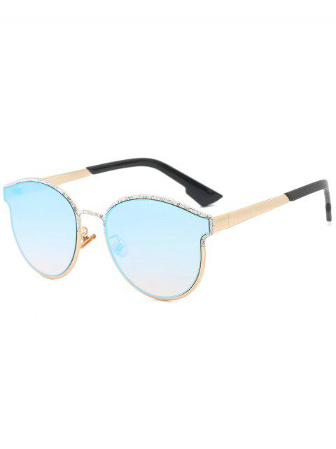 buy Butterfly Piebald Frame Spliced Sunglasses - ICE BLUE  Mobile