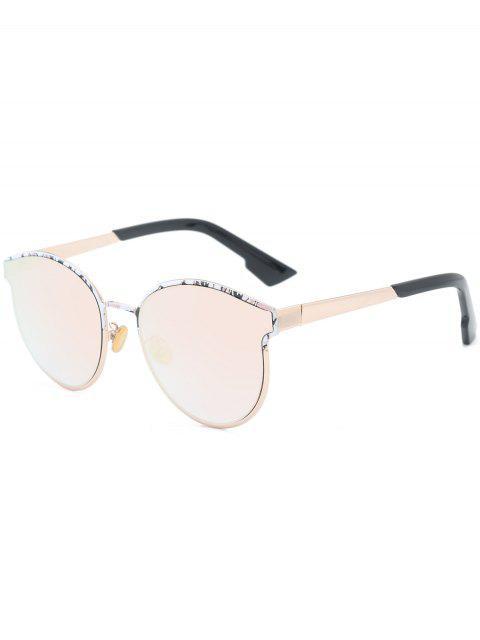 affordable Butterfly Piebald Frame Spliced Sunglasses - BARBIE PINK  Mobile