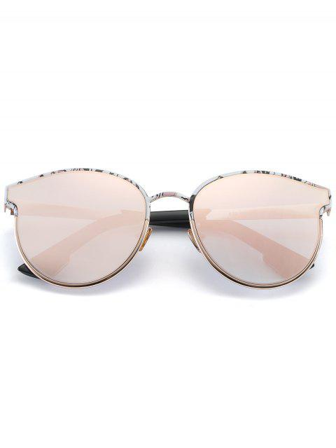 affordable Butterfly Piebald Frame Spliced Sunglasses - BARBIE PINK  Mobile