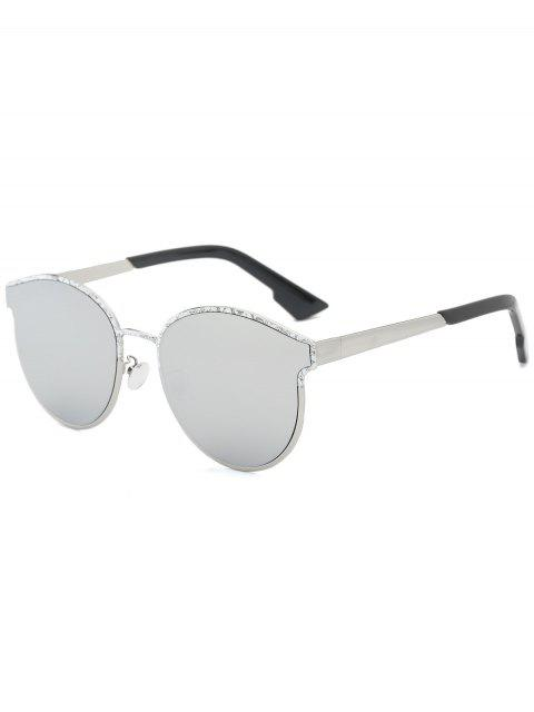 sale Butterfly Piebald Frame Spliced Sunglasses - SILVER  Mobile