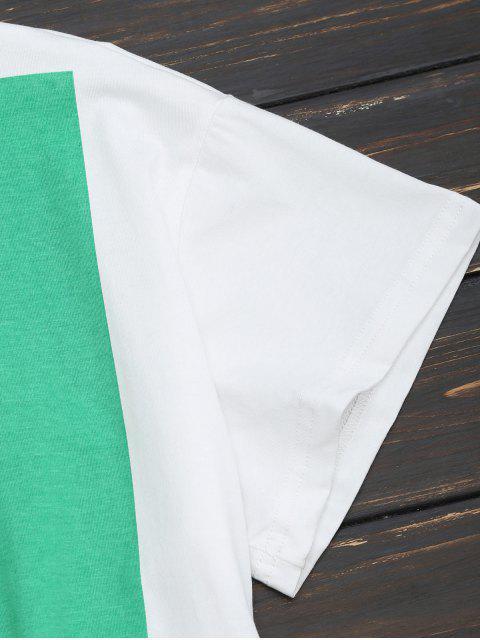 unique Cotton Figure Graphic T-Shirt - WHITE XS Mobile