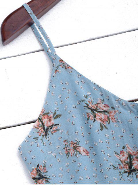 shops Chiffon Button Up Floral Slip Dress - FLORAL L Mobile