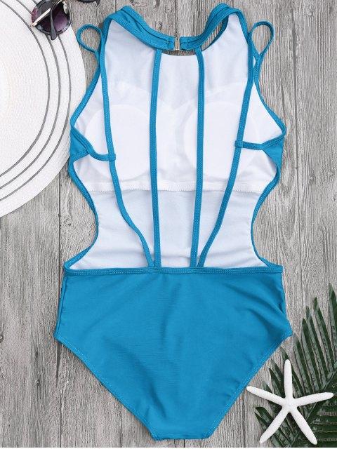 chic Padded Back Strappy Swimwear - LAKE BLUE M Mobile