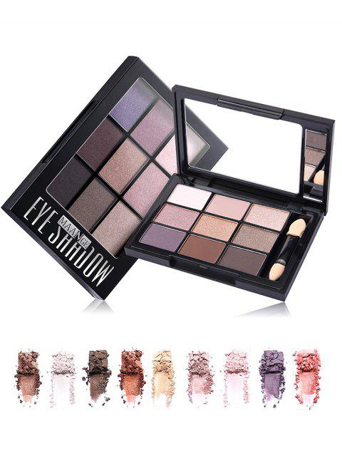 buy 9 Colors Eyeshadow Palette with Brush -   Mobile
