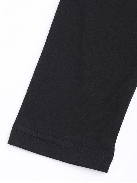 hot Cropped Cotton Padded Top - BLACK S Mobile