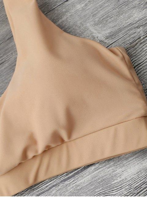 outfit Midi Bralette Scoop Bikini Set - YELLOWISH PINK XL Mobile