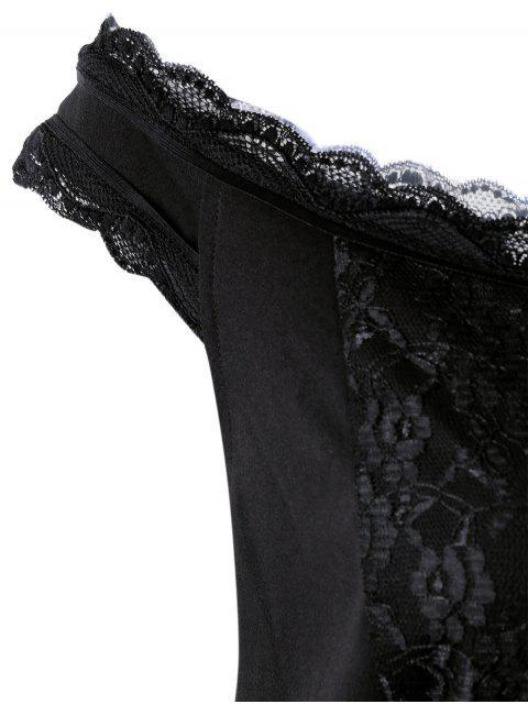 Mini-robe en dentelle - Noir 4XL Mobile