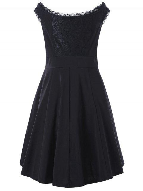 Mini-robe en dentelle - Noir 5XL Mobile