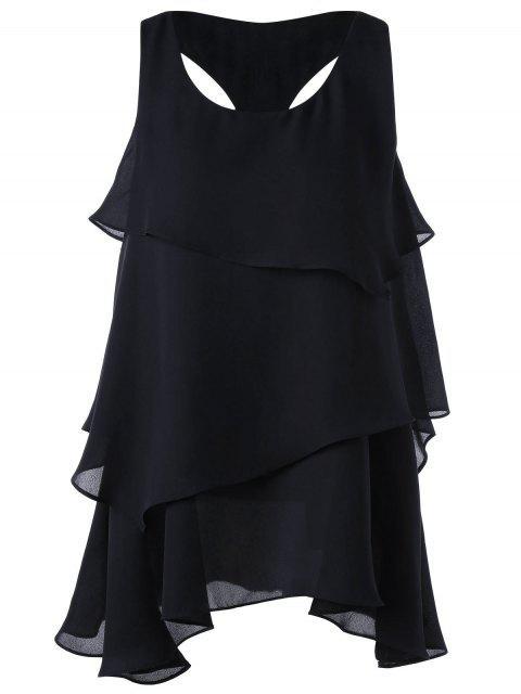 T-shirt en lacets - Noir L Mobile
