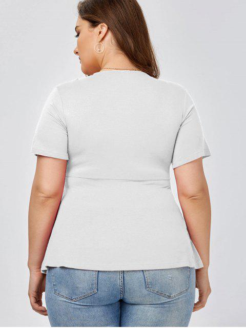 Top Size Knot Front Top - Blanc XL Mobile