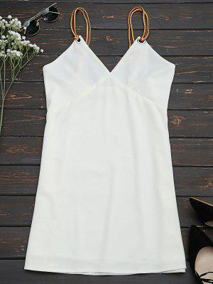 Vestido De Tirantes Trenzado Mini Slip - Blanco S