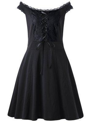 Mini-robe à taille haute