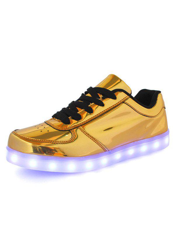 Fini métallisé Lumières LED lumineuses Up Souliers
