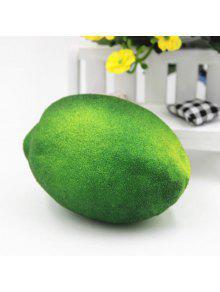 Anti Stress Simulado De Forma De Limón Squishy Toy - Verde