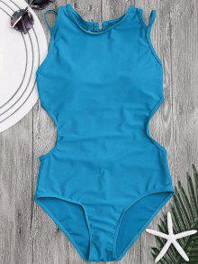 Padded Back Strappy Swimwear - Lake Blue L