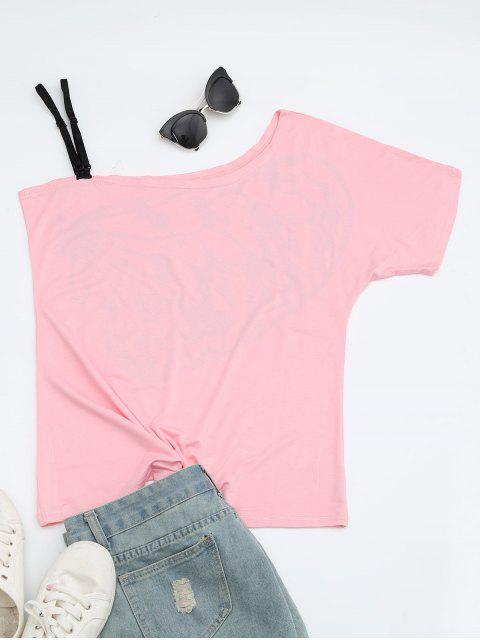 T-shirt imprimé papillon imprimé - ROSE PÂLE M Mobile