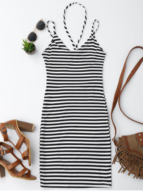 affordable Cut Out Striped Cami Dress - STRIPE M Mobile