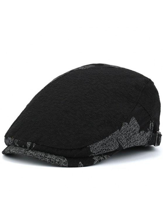 Leaf Pattern Embellished Newsboy Hat Black Hats Zaful