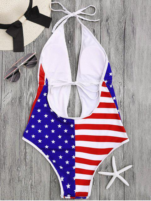 outfit Patriotic American Flag High Cut Swimsuit - COLORMIX M Mobile