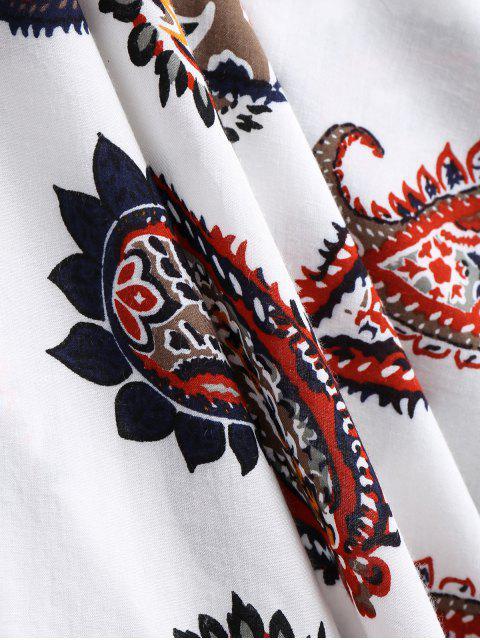 Cache maillots kimono motif à paisley - Blanc TAILLE MOYENNE Mobile