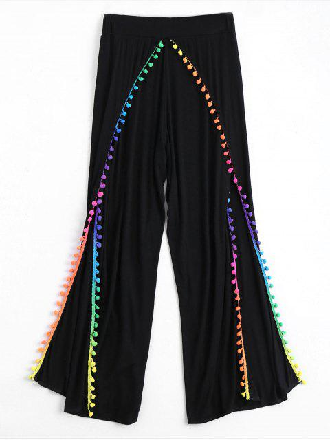 Pom Embellished Tulip Cover Up Pants - Noir S Mobile