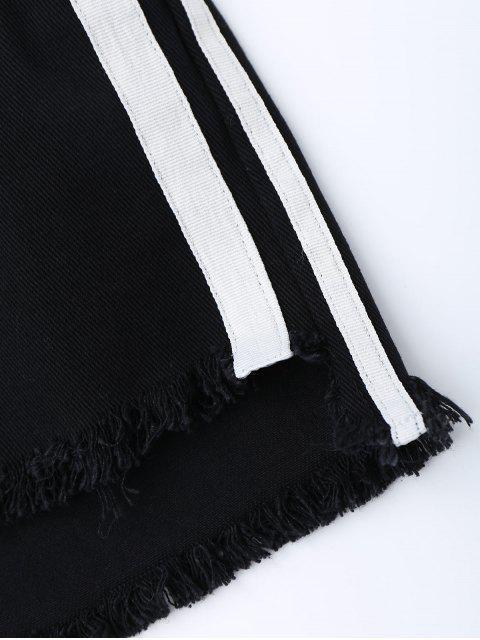 Shorts denim rayés - Noir L Mobile