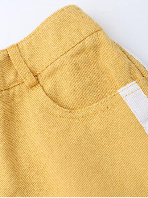 Shorts denim rayés - Curcumae L Mobile
