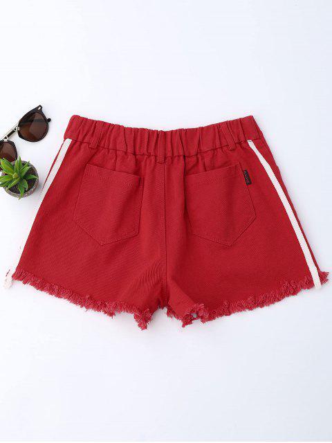 Shorts denim rayés - Rouge XL Mobile