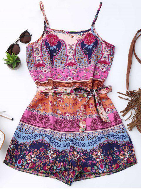 Impresión floral Cami con cinturón - Floral XL Mobile