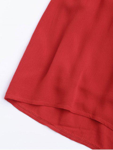 Combishort de Plage Halter Couverture Plongeant - Rouge M Mobile