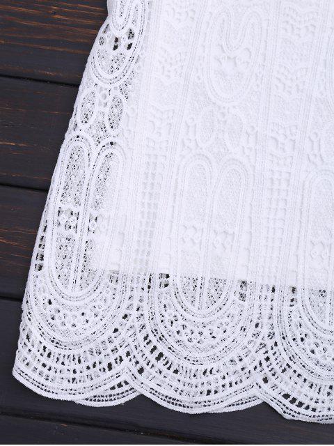 Ensemble à la robe et à la robe à carreaux Scalloped - Blanc M Mobile