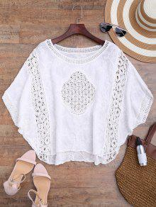 Buy Batwing Crochet Panel Cover - WHITE ONE SIZE
