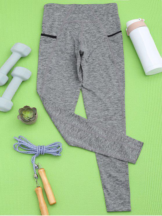 Pants soprtifs et gris  en coton pour le yoga - Gris S
