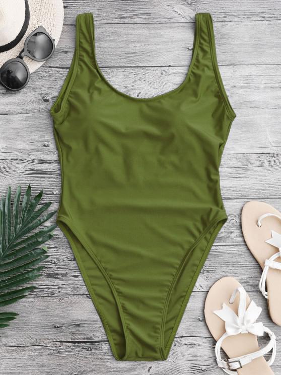لباس سباحة عاري الظهر - أخضر XS