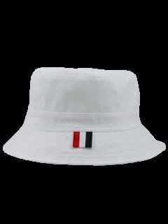 Linellae Bordado Protector Solar Sombrero De Cubo - Blanco