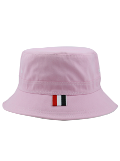 Linellae Embroidery Sunscreen Bucket Hat - Papaya