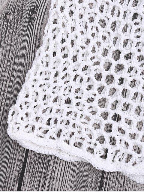 Short Couvert de Plage en Crochet à Filet - Blanc S Mobile