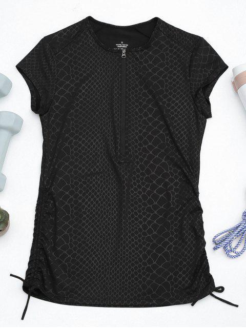 Schnelle Trocken Süßiges Top mit Reißverschluss - Schwarz S Mobile