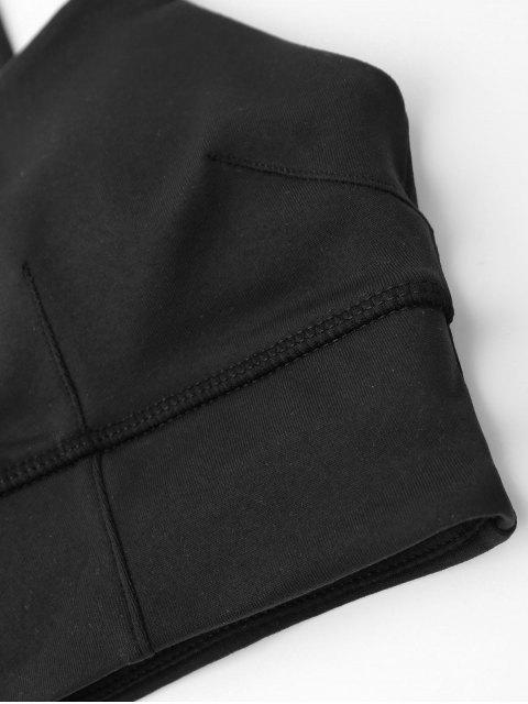 fashion Padded High Impact Sports Running Bra - BLACK S Mobile