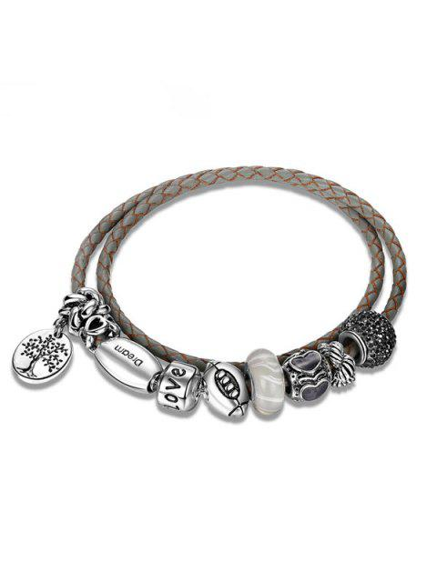 womens Engraved Love Tree of Life Charm Bracelet -   Mobile