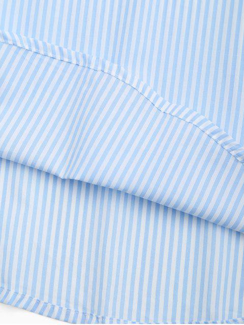 hot Arc Hem Striped Loungewear Shirt Dress - STRIPE S Mobile