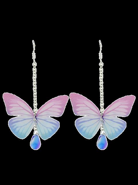 Acryl-Edelstein-Schmetterlings-Tropfen-Ohrringe - Rosa  Mobile