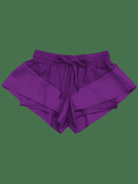 Shorts de course à double couche - Pourpre L Mobile